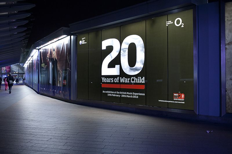 War Child at The O2 Exhibition Graphics