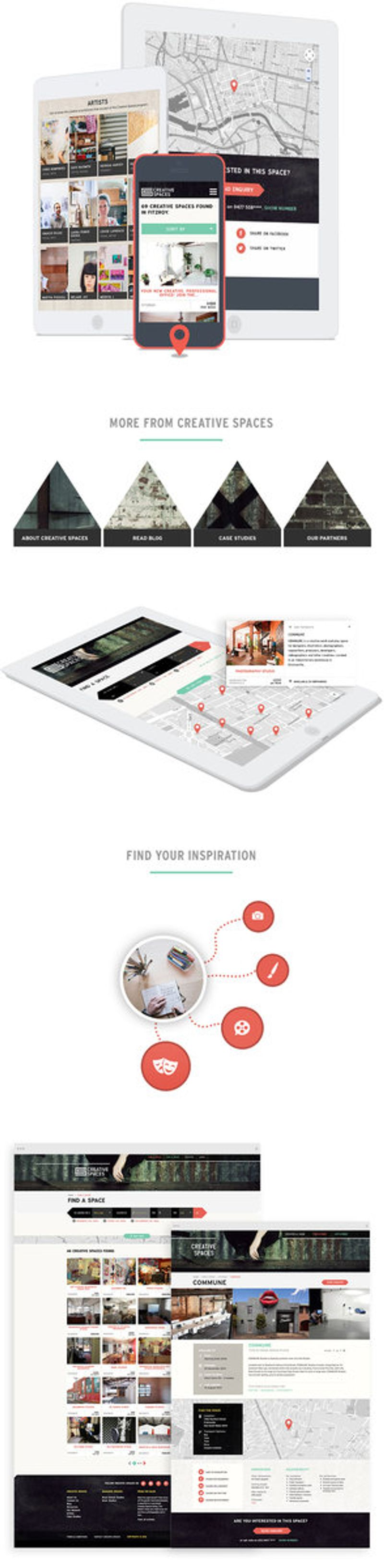 CREATIVE SPACES RESPONSIVE WEBSITE APPLICATION