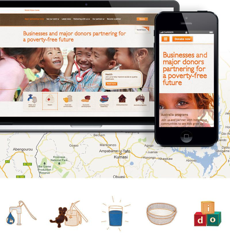 WORLD VISION RESPONSIVE CAMPAIGN WEBSITE