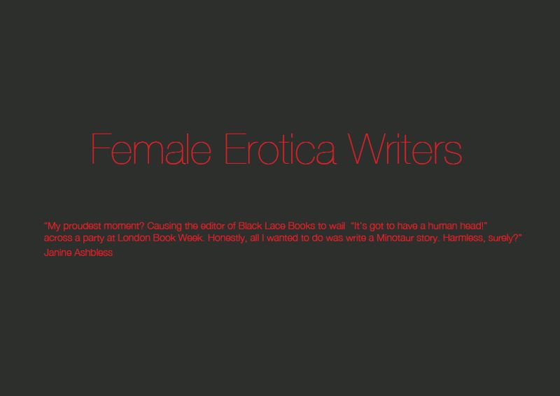 FEMALE EROTICA WRITERS