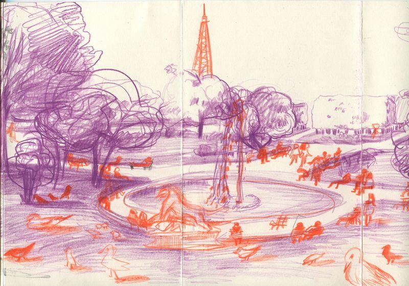 SKETCH BOOK - LONDON&PARISE