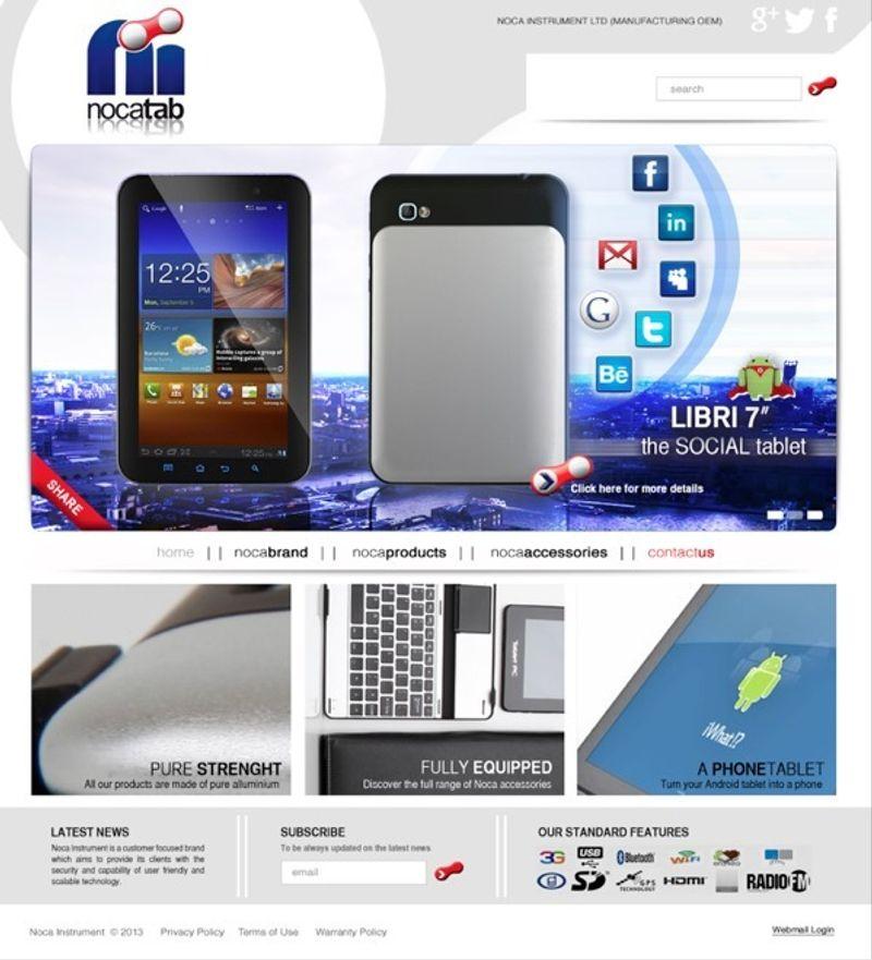 Nocatab Product Website