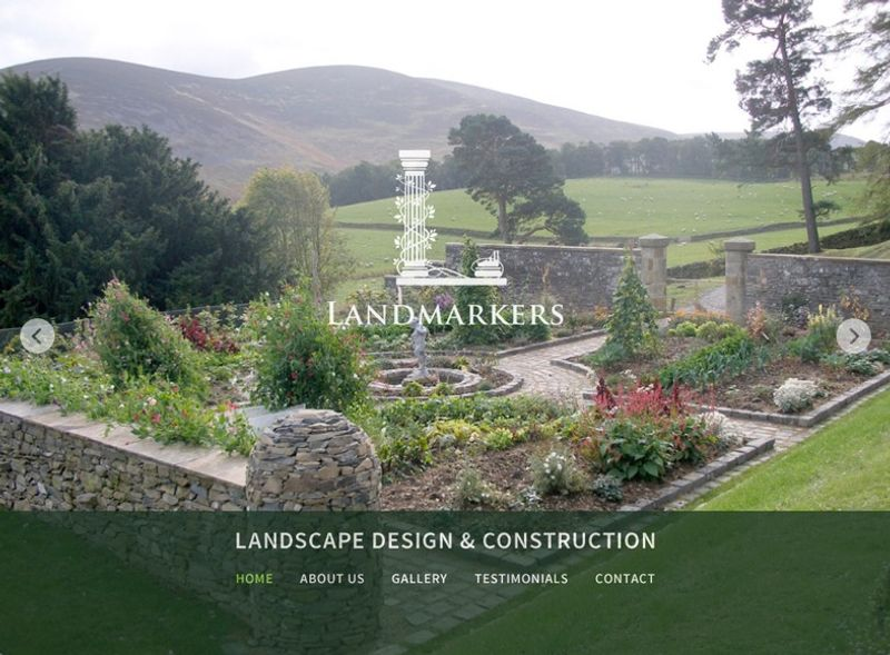 Logo and Website for Landmarkers Landscape Design & Construction