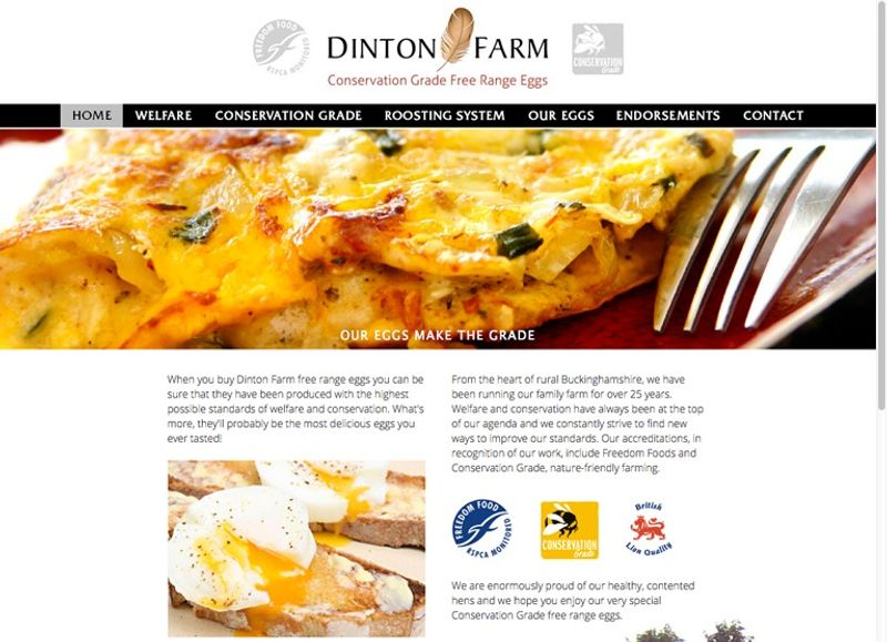 Logo, website, packaging and leaflets for Dinton Farm Free Range Eggs