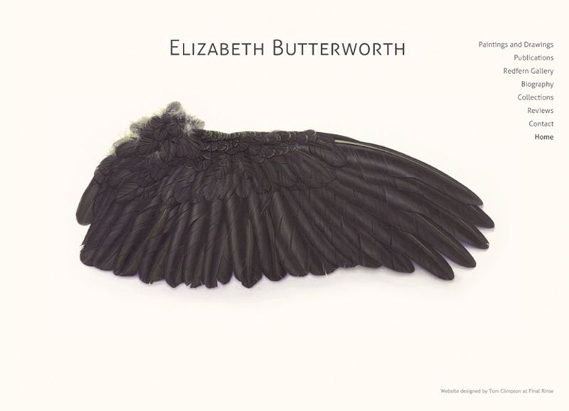 Elizabeth Butterworth. Website design