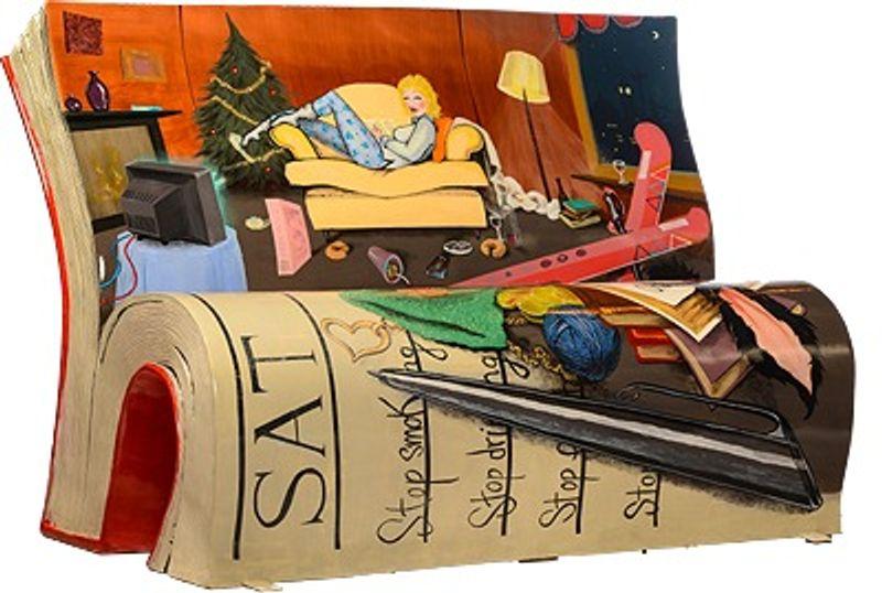 Book Bench Design