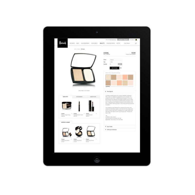 Harrods.com Site Re-design
