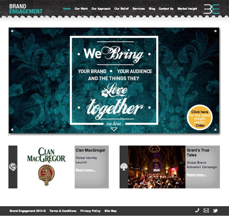 Brand Engagement : Agency Website and rebrand