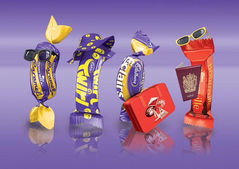 Cadbury Travel Mix Pack 3D Illustrations