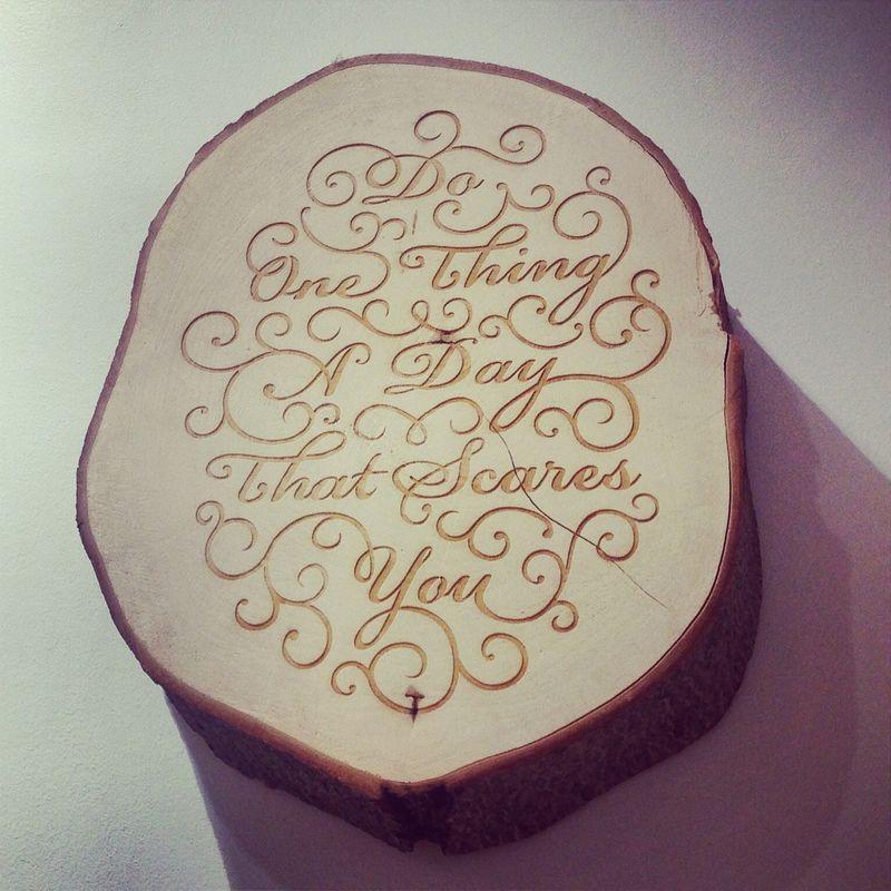 Lululemon Wooden Etched Artwork