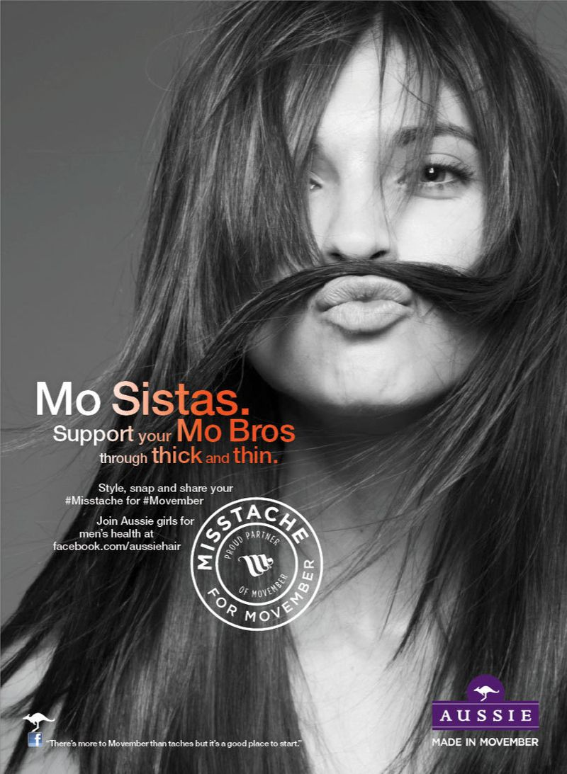 Misstache for Movember Aussie Hair