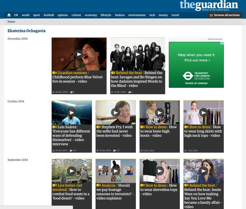 Self shooting video producer - The Guardian