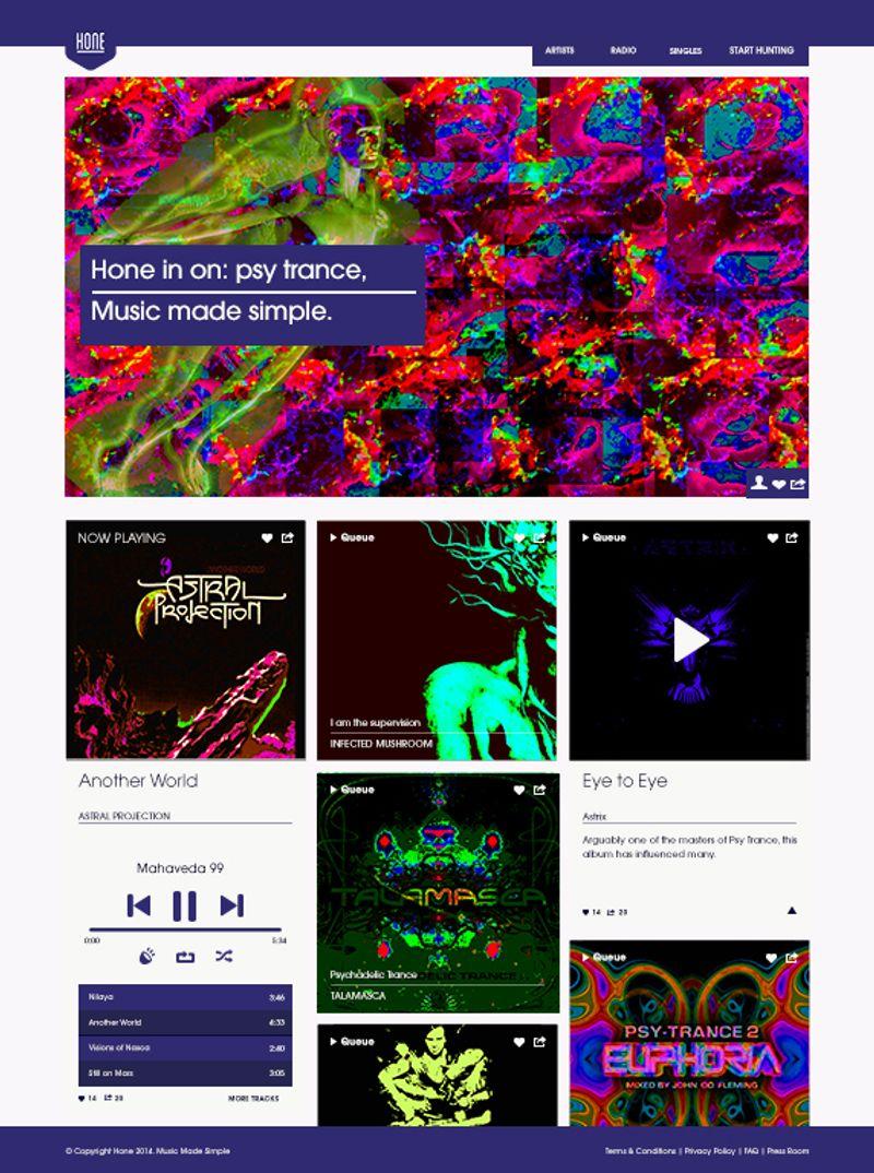 Music Website Student Brief