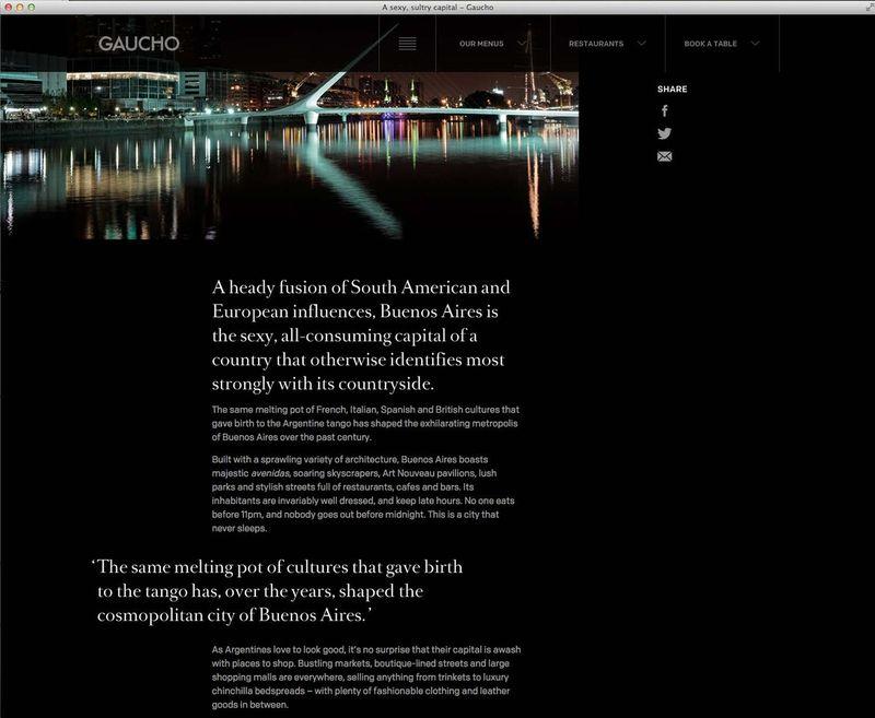 Gaucho website refresh