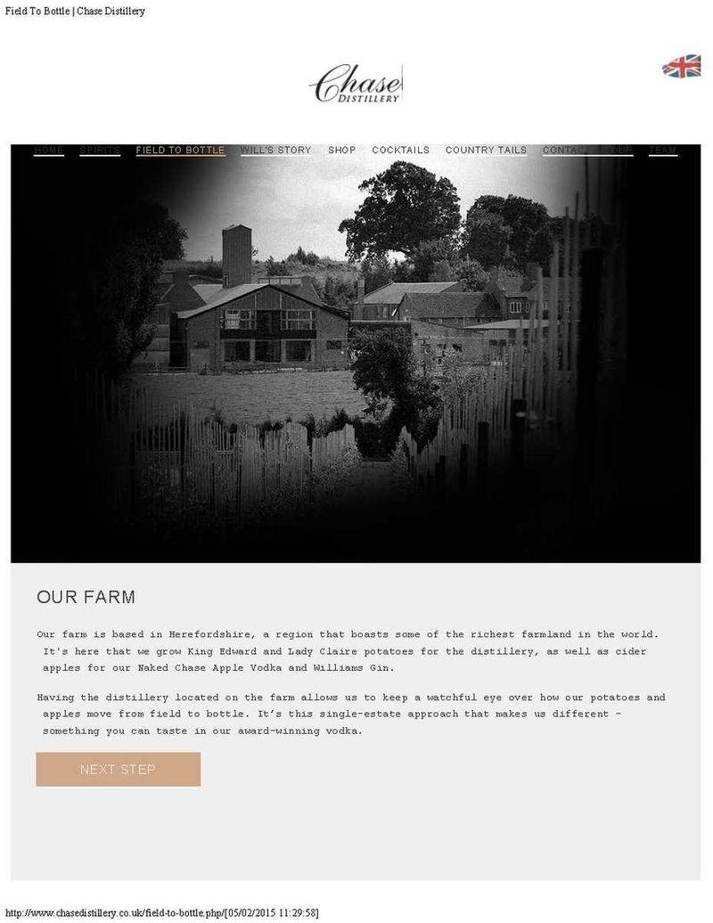 Chase Distillery website