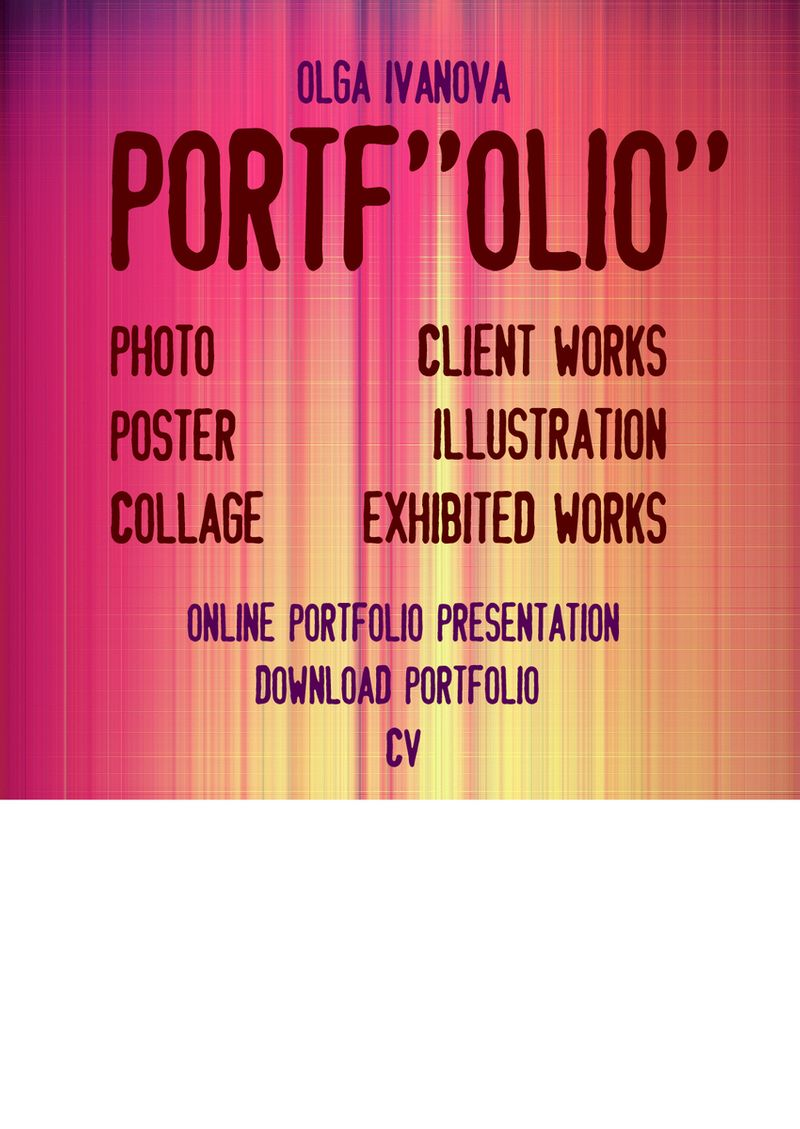 CV and Portfolio