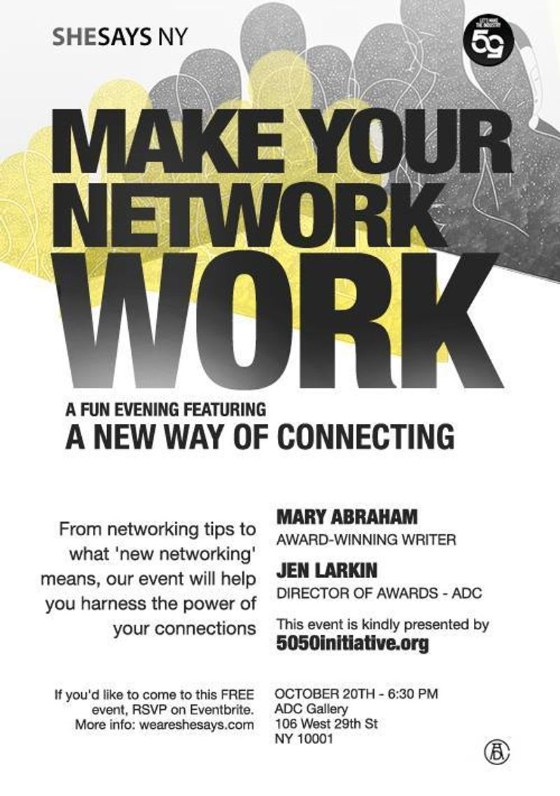 SheSays NY Oct 2014 event - Make Your Network Work, Part 3