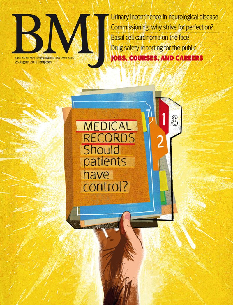 British Medical Journal - Front Cover - 2012