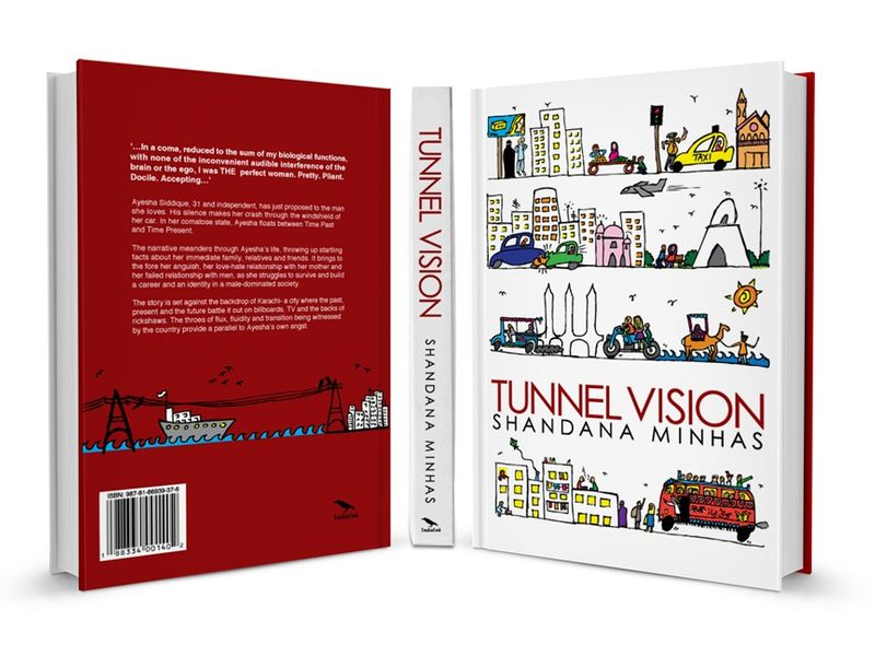 Tunnel Vision- Illustration & Typography Covers
