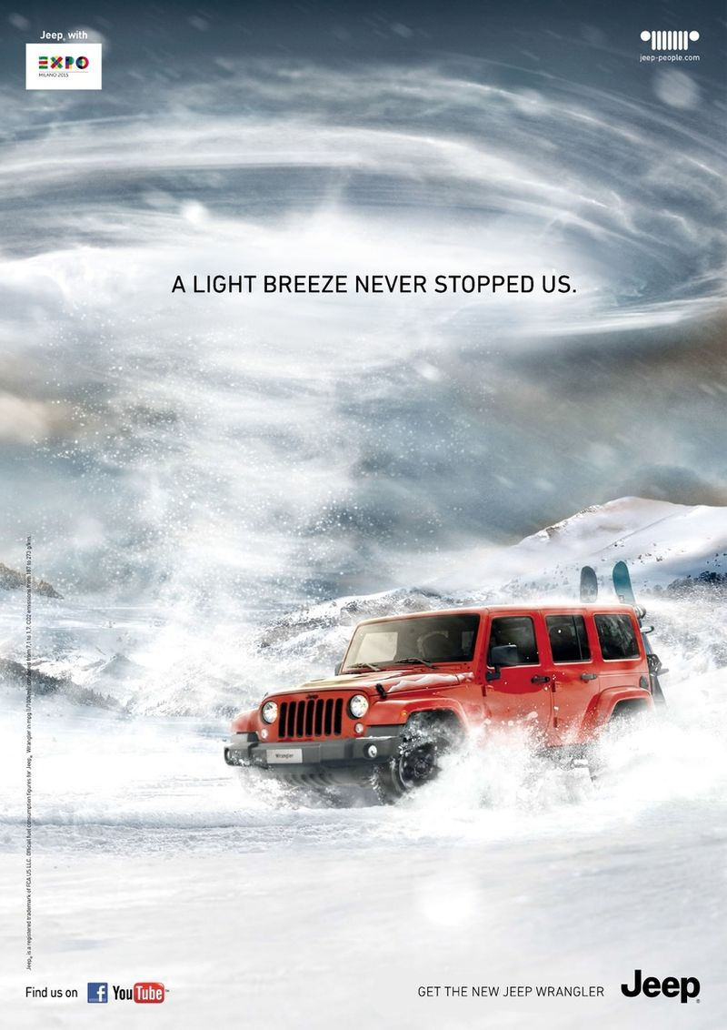 Jeep Grand Cherokee Spec TVC and Wrangler winter print