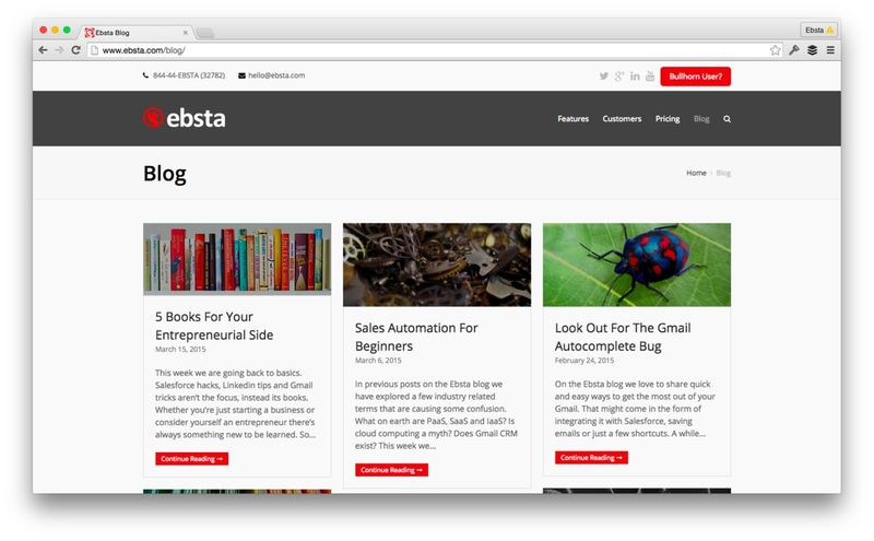 Ebsta Blog