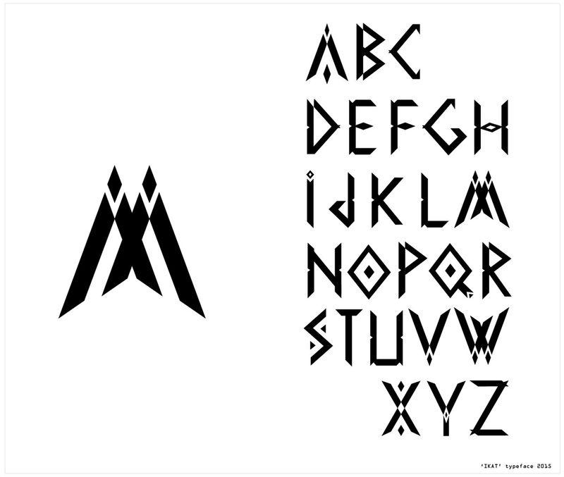 the Ikat Font