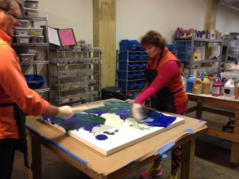 mosaic and art design with public artist in houston