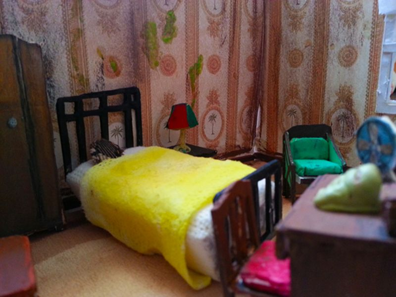 Art deco hotel room-Scale Model