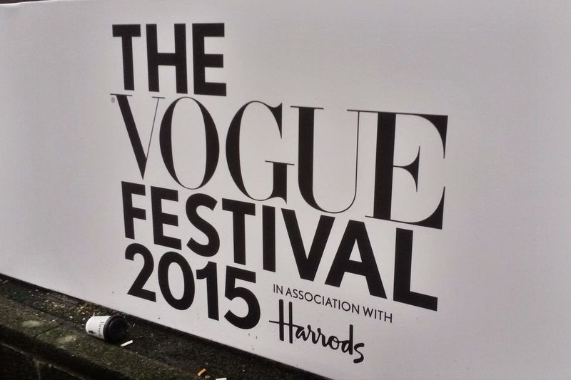 Working at The Vogue Festival