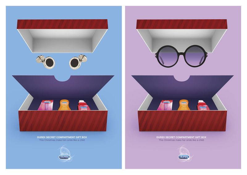 Durex Secret Compartment Christmas boxes