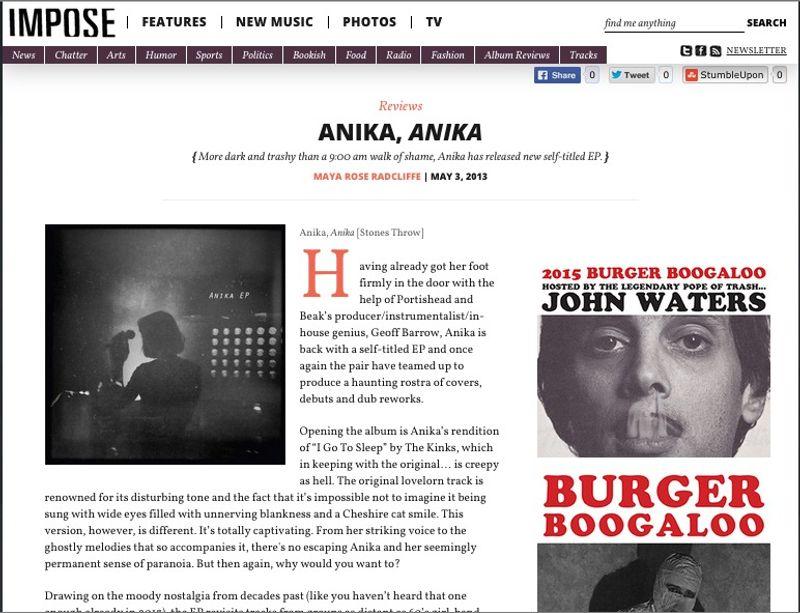 Music Writer For Impose Magazine