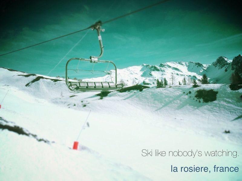 Ski like nobody's watching.
