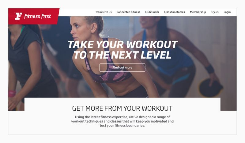 Fitness First Web Experience