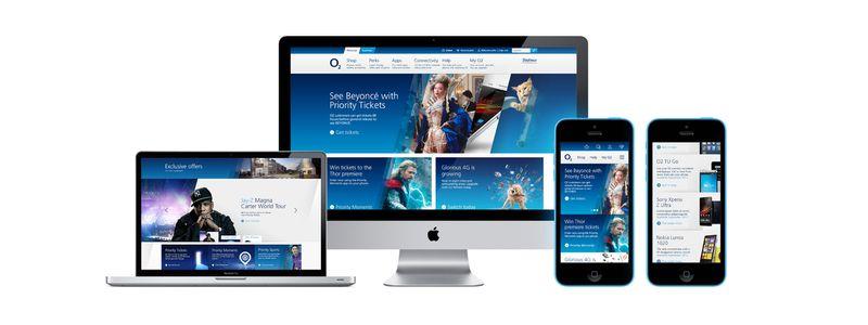 O2 website homepage re-design