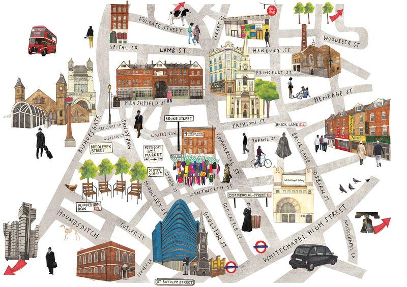 East London Map