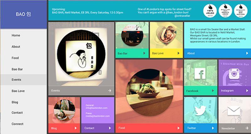 site concept for bao london