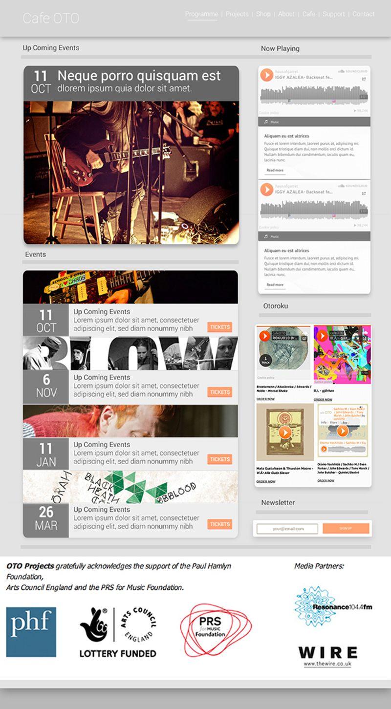 cafe oto website