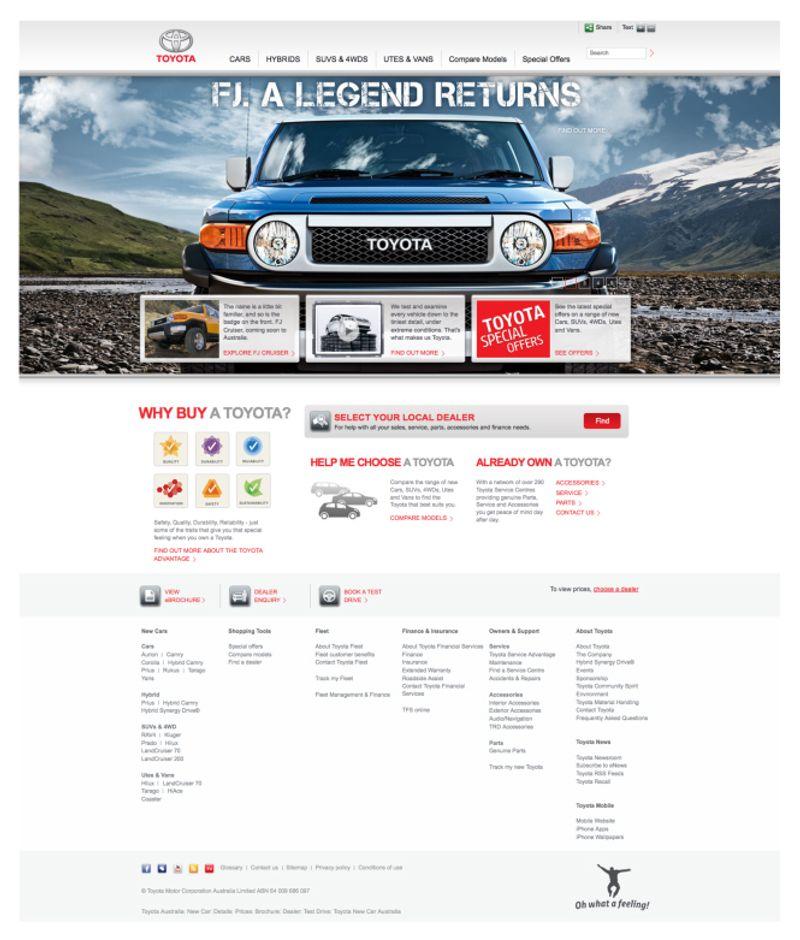 Toyota re-design