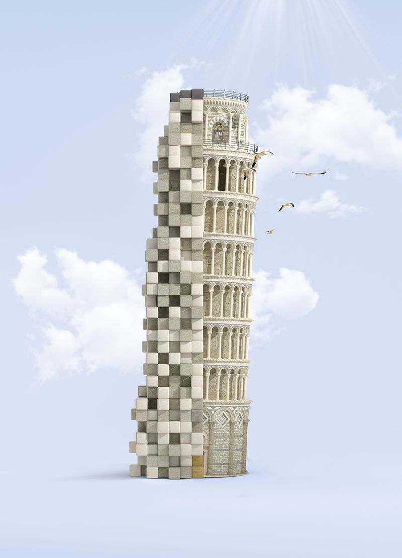 Pixelated Landmarks - Sony