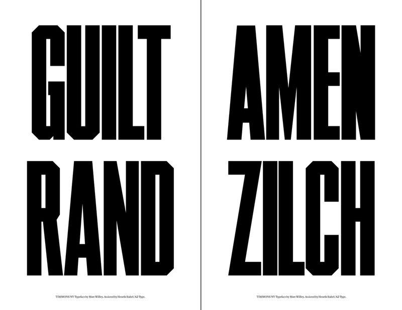 Timmons NY Typeface