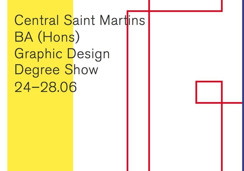 Central Saint Martins Graphic Design Grad Show