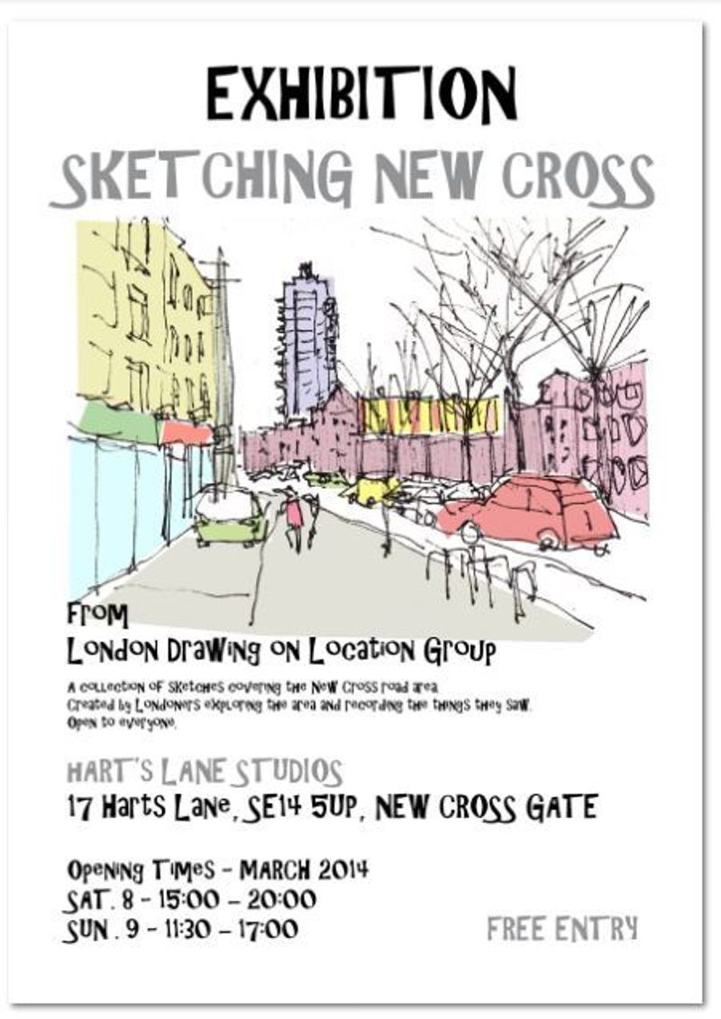 Hart's Lane Exhibition for Drawing London on Location