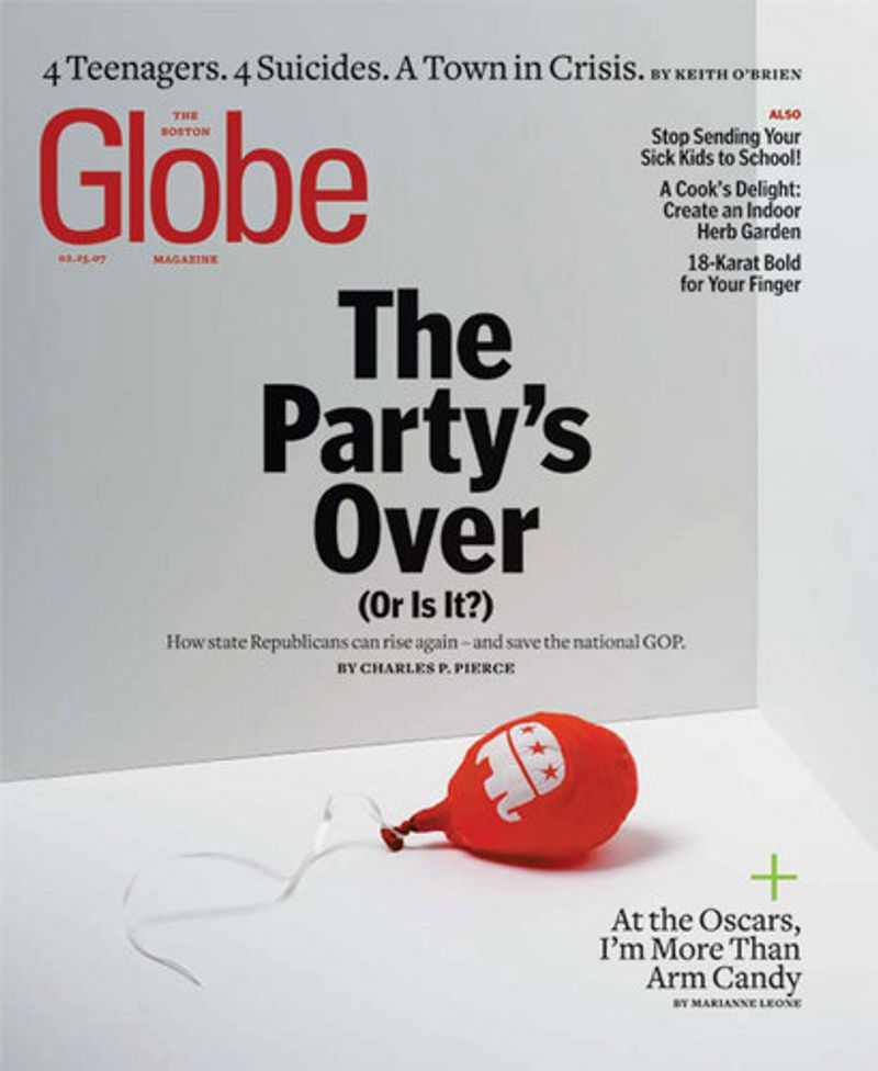 The Boston Globe Magazine Cover