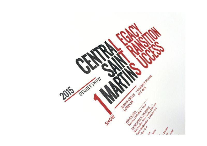 CSM Degree Show Branding