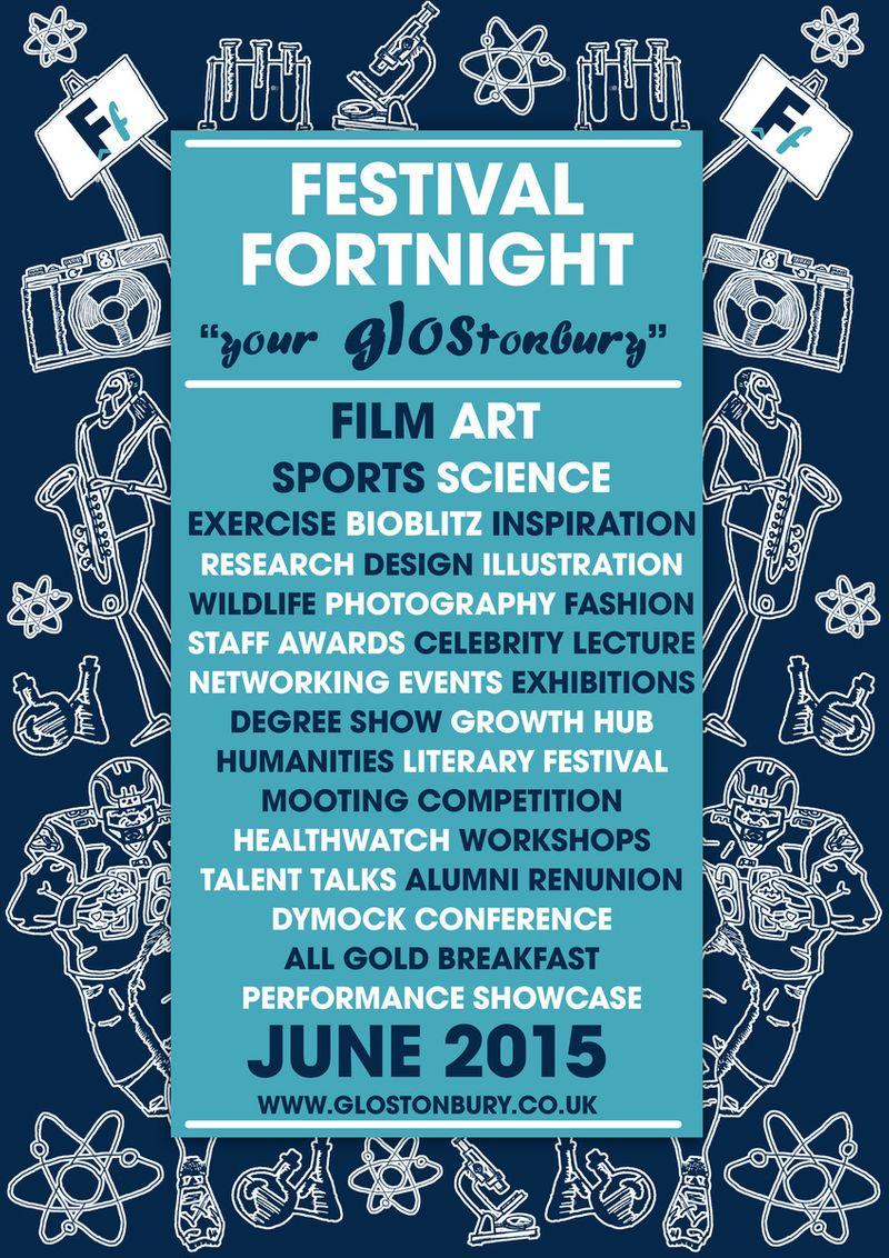 University of Gloucestershire Festival Print Advert