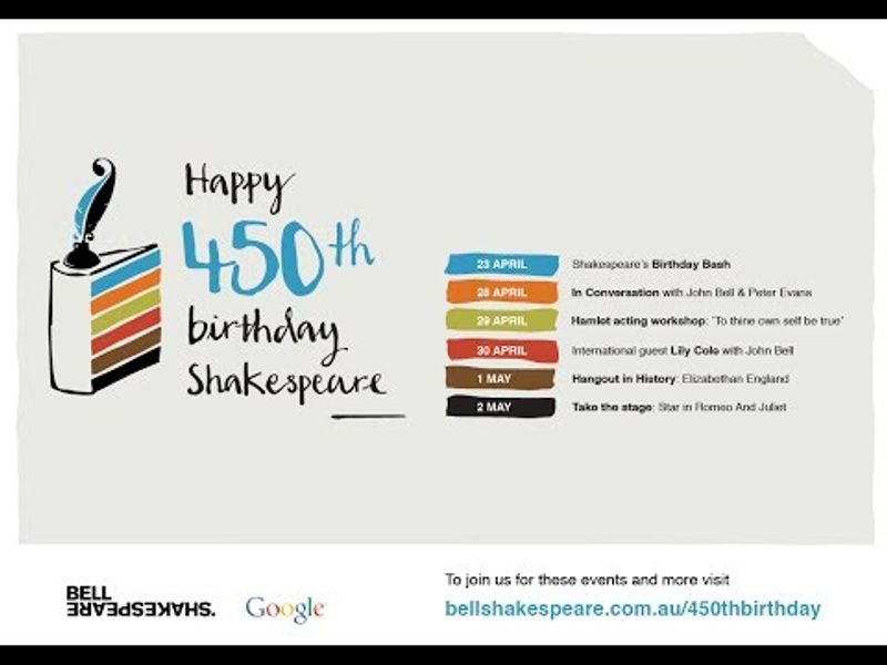 All the world's a stage | Happy 450th birthday Shakespeare