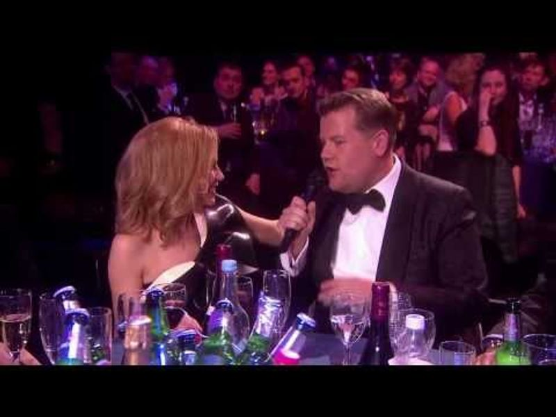 James Corden chats with Kylie Minogue | BRIT Awards 2014