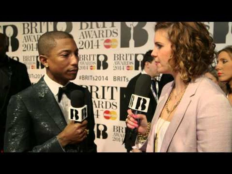 Pharrell | BRITs Red Carpet 2014